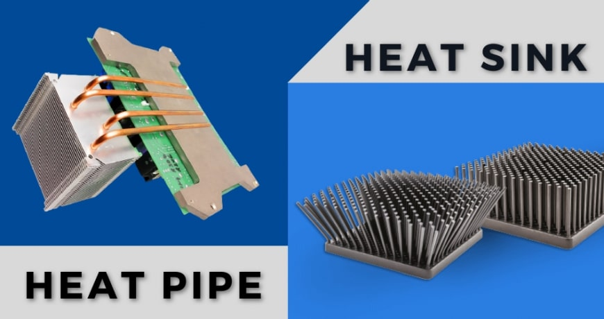 What is the difference between a heat sink and a heat pipe?